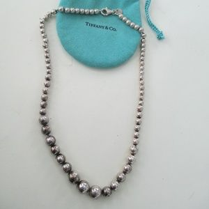 Tiffany  & Co  Graduated Ball Necklace